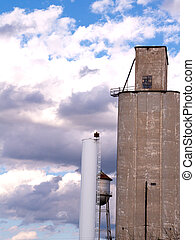 Wheat Silo at a small town Co-op