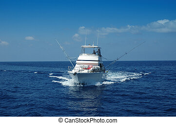 sport fishing boat - Sport Fishing Boat ready for game...