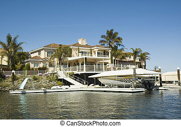 Executive house with waterfront access - Executive home in a...
