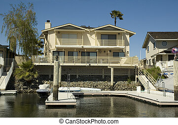 Waterfront home with dock - Executive home in a housing...