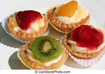 Pastries - An Assortment of miniature fresh fruit tarts