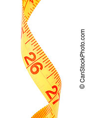 Yellow Tape Measure with white background