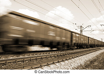 freight train - special toned and blur-motion photo fx,...