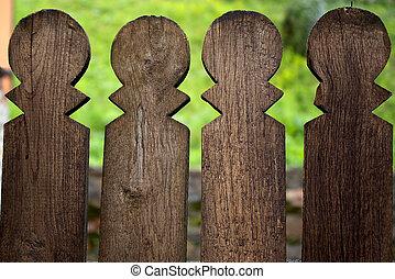 Wooden Palisade - Retro Wooden Palisade