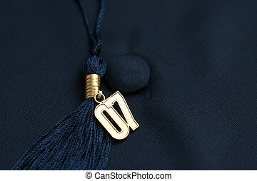 Graduation 07 - Gold 2007 tassle on background of blue...
