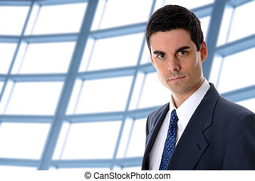 Businessman - business man in an office environment with...