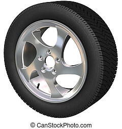 Car Wheel - Detailed car wheel and tire 3d render