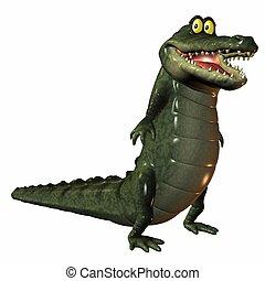 Toon Croc - 3D Render