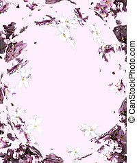 Lilac Swirl - A patterned background I made using my photos...