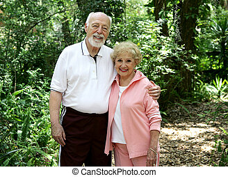 Active Senior Couple - Portrait of a good looking, active...