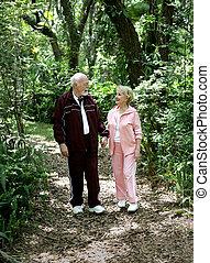 Senior Stroll in Park