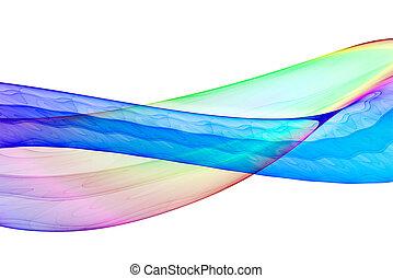 Fractal background - Colorful 3D rendered fractal design...