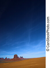 Red Desert with Hight Sky - Semi-desert and the red rocks of...