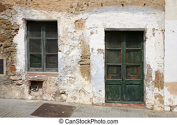 Old house - An old weathered house in Catalonia, Spain