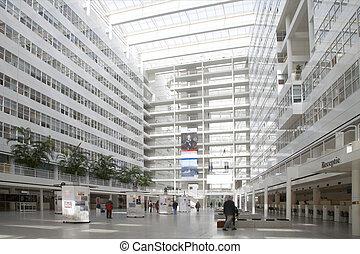 Atrium 1 - Atrium of the city hall in The Hague, Holland