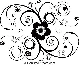 floral tattoo - An abstract tattoo design with vine and...
