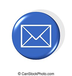 email symbol - 3d email symbol - computer generated clipart