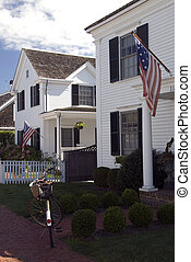 Traditional Colonial House, Edgartown - View of a typical...