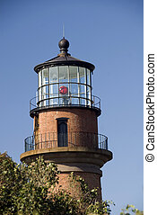 Gay Head Lighthouse - Brick Lighthouse at Gay Head on...