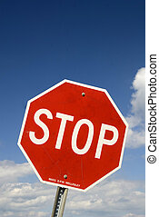 Stop Sign at Road Junction