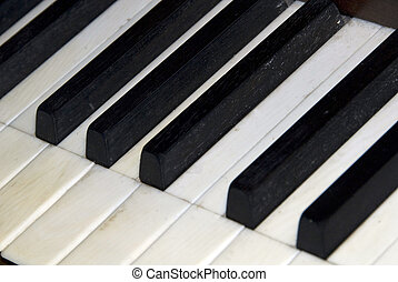 Piano Keys - Detail of a piano keyboard
