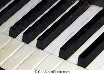 Piano Keys - Detail of a piano keyboard