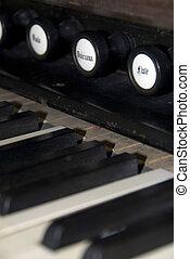 Harpsichord Keeys - Detail of a Harpsichrod Keyboard