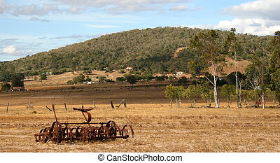 Old Farm Scene - An old fashioned farm in Outback...