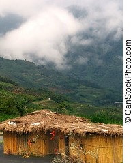 Aboriginal Dwelling - -- straw hut in Taiwans mountains...