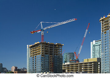 Construction boom - buildings are rising