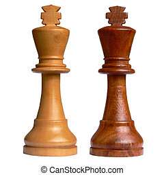 Isolated chess king of each camp