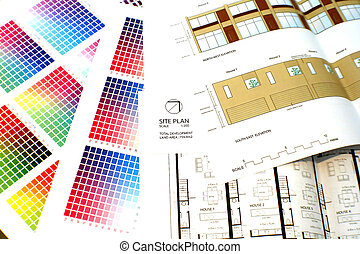 Colour chart and plans with elevation - House plans and...