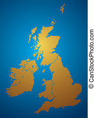 uk natural - An illustration of a map of the united kingdon...