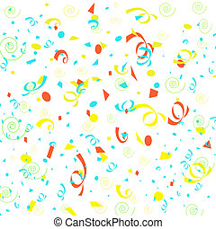confetti wrapping - colorful confetti and swirls scattered...