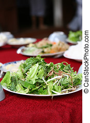 Fresh salad - Freshly made salad served on a plate with...