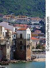 Mediterranean village - Typical Mediterranean village in...