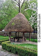 Old Arbour - Old Style Arbour in ethnographic complex Etara,...