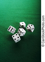 Dices - Thrown dices with motion blur trail