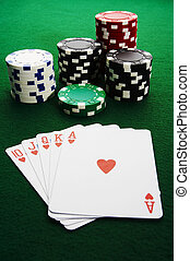 Royal flush - The best poker hand, royal flush
