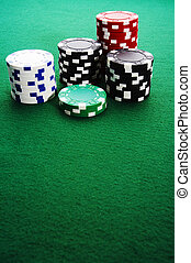 Chips - Stack of gambling chips on the table