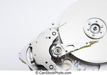 Harddisk - Opened harddisk closeup