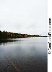 Landscape - Autumn landscape from Lapland, Finland