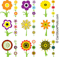 flower variation - A collection of nine flower designs each...