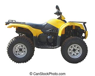 quadbike isolated
