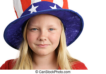 American Dreams - Portrait of a beautiful young American...