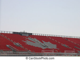 Canadian Stands - Empty pro soccerfootball stadium