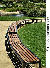 Resting Place - Benches located at Japanese Garden in Van...