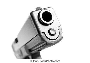 handgun macro isolated