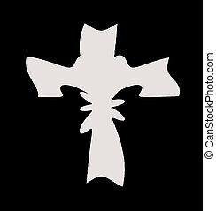 Abstract cross design