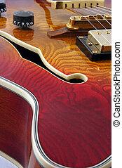 Abstact jazz guitar - An abstract shot of an electro...